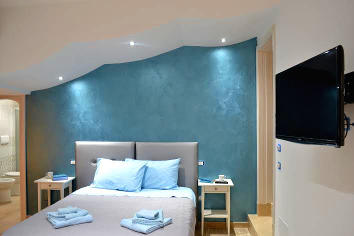 La spaziosa suite dotata di tutti i comfort